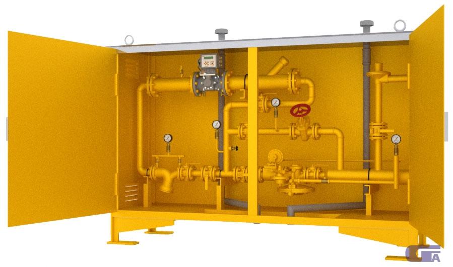 Пункт шкафной газорегуляторный с газовым обогревом ГСГО-МВ