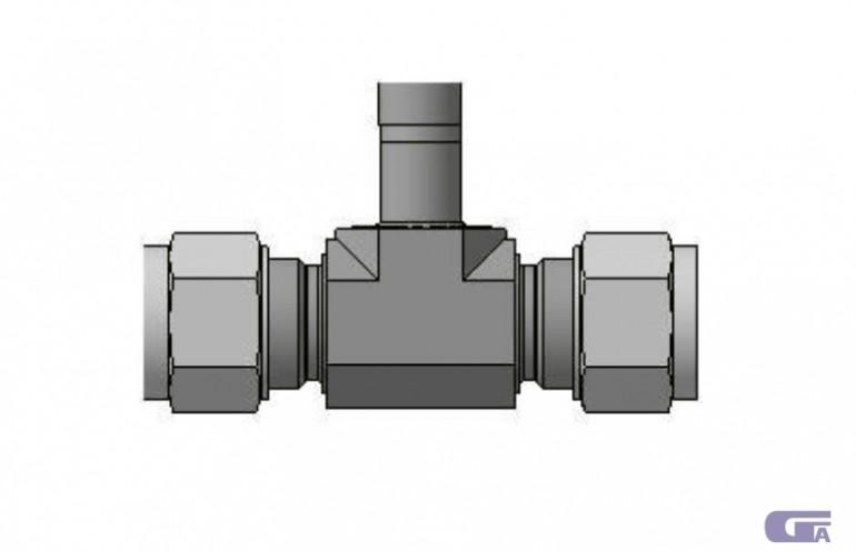 Симметричный переходной тройник