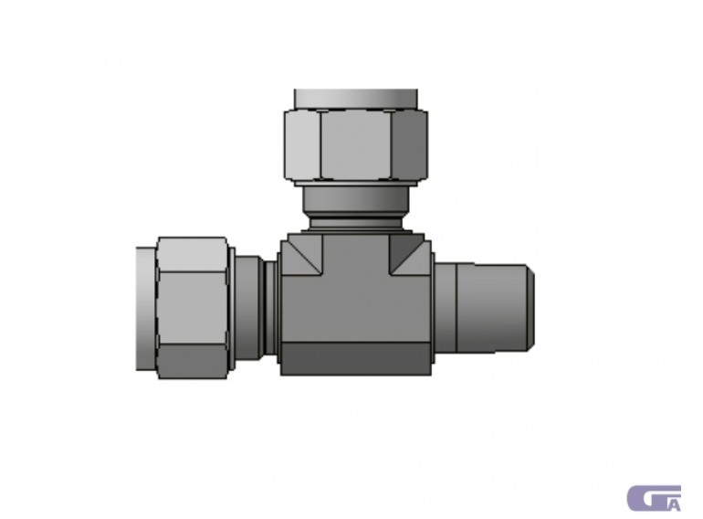 Ввертной угольник с боковым отводом